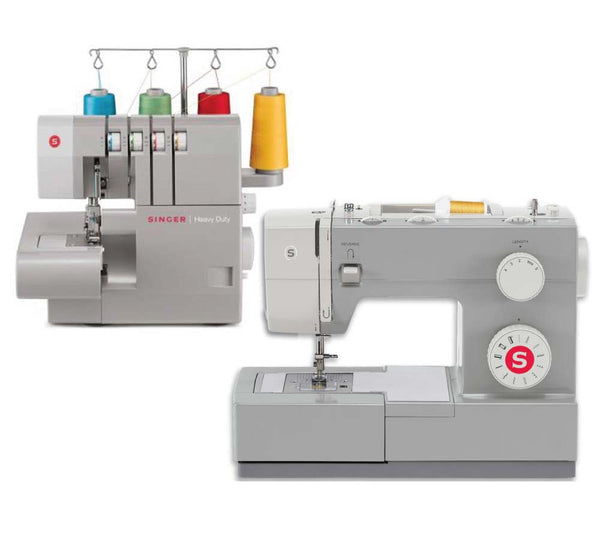Singer 4411 Heavy Duty Sewing Machine & 14HD854 Overlocker Combo