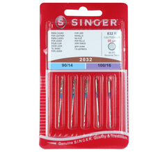 Singer Domestic Sewing Machine Needles - For Leather