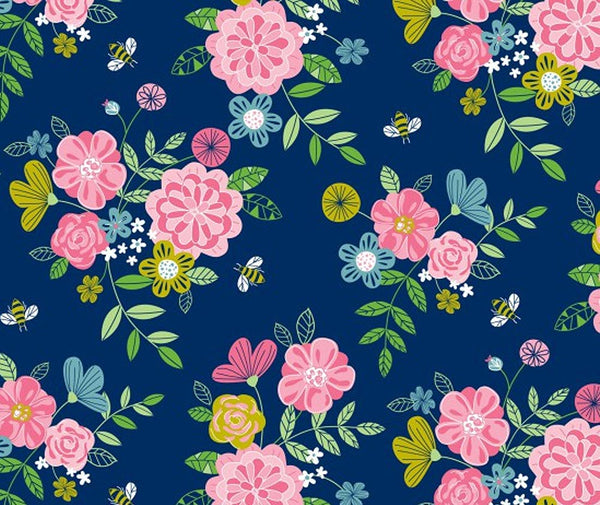 Wildflower Honey 100% Cotton Fabric - 1/2 Metre