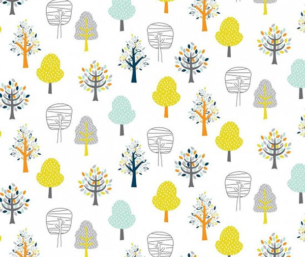 Woodland Friends 100% Cotton Fabric - 1/2 Metre