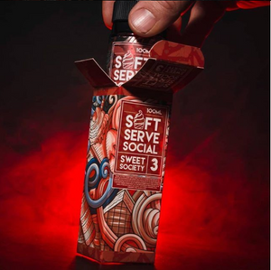 SOFT SERVE SOCIAL - SWEET SOCIETY E-LIQUID 100ML - THE VAPE SITE