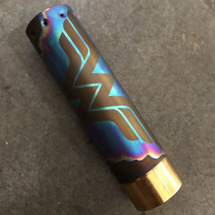 COMP LYFE - HK 25MM MOD - CUSTOM ANODIZED TITANIUM (1 OF 1) - THE VAPE SITE