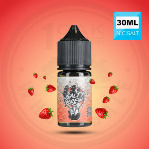 SALTY KREW SALT E-LIQUID - STRAWBERRY SEA SALT 30ML - THE VAPE SITE