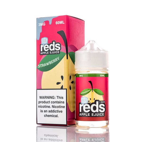 7 DAZE - ICED STRAWBERRY REDS APPLE E-JUICE 60ML - THE VAPE SITE