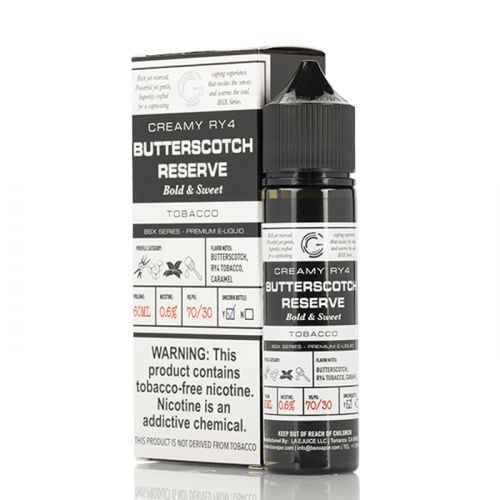 BUTTERSCOTCH RESERVE - BASIX SERIES - GLAS E-LIQUID - 60ML