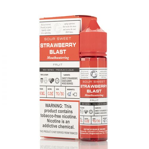 STRAWBERRY BLAST - BASIX SERIES - GLAS E-LIQUID - 60ML