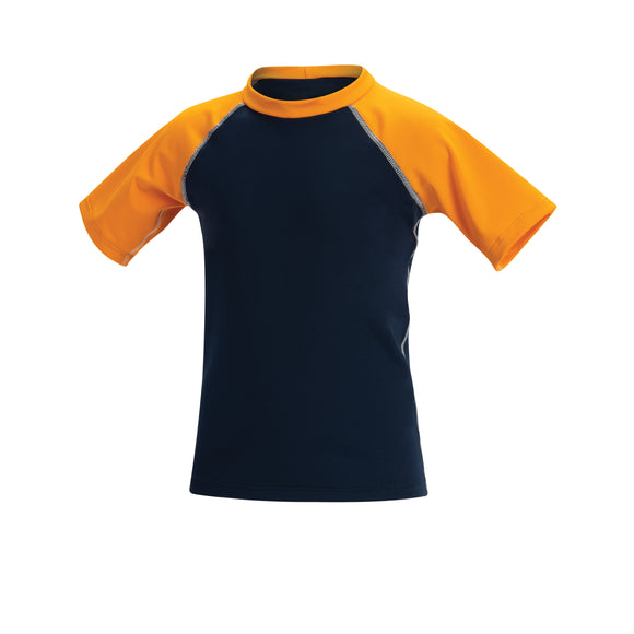 Little Dolfin Rashguard Navy/Orange