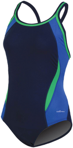 Dolfin Reliance Colorblock Blue/Green DBX Back