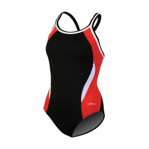 Dolfin Reliance Color Block Red DBX Back