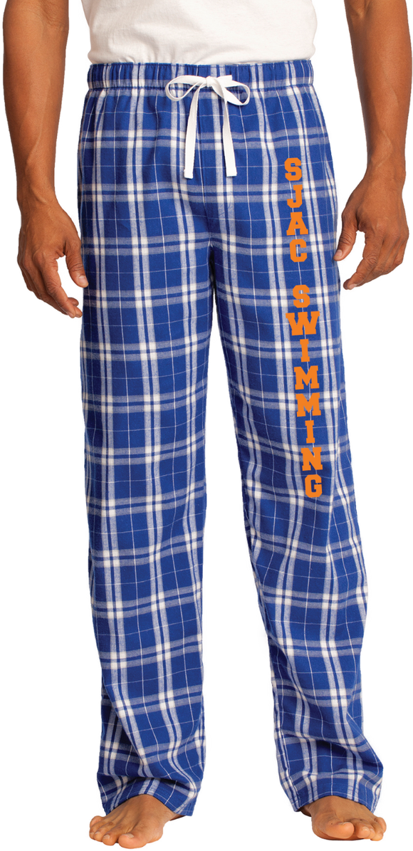 SJAC Blue and White Flannel Pants