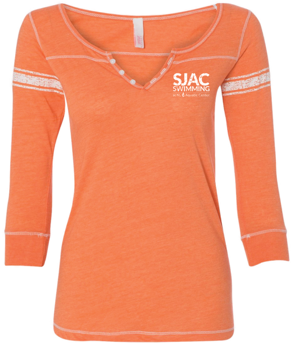 SJAC Women's Henley ¾ Sleeve Shirt