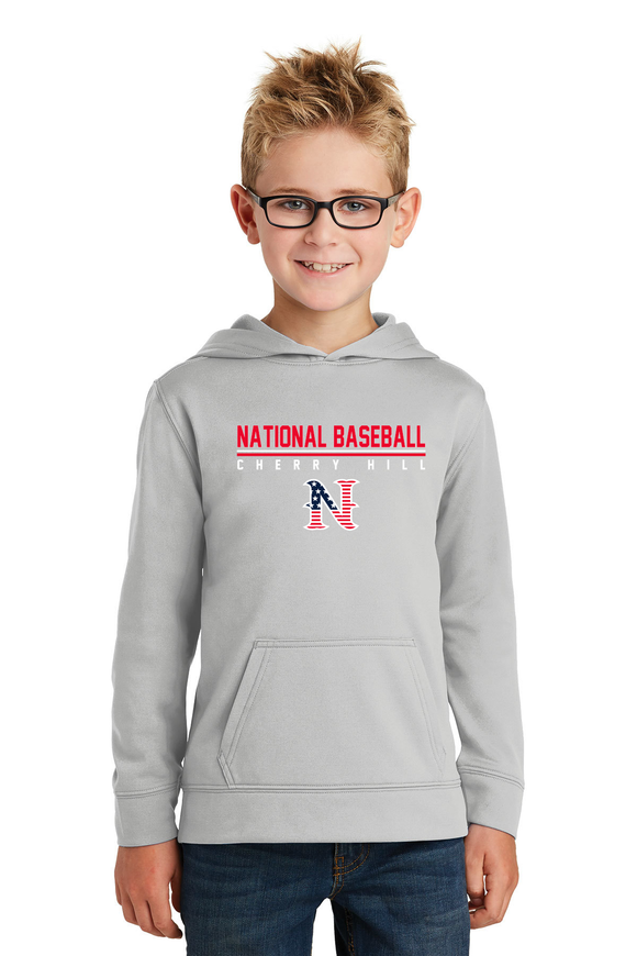National Baseball Cherry Hill Hooded Sweatshirt - Youth Silver