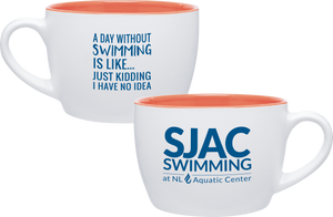 SJAC Two Tone Ceramic Mug, 18 oz.