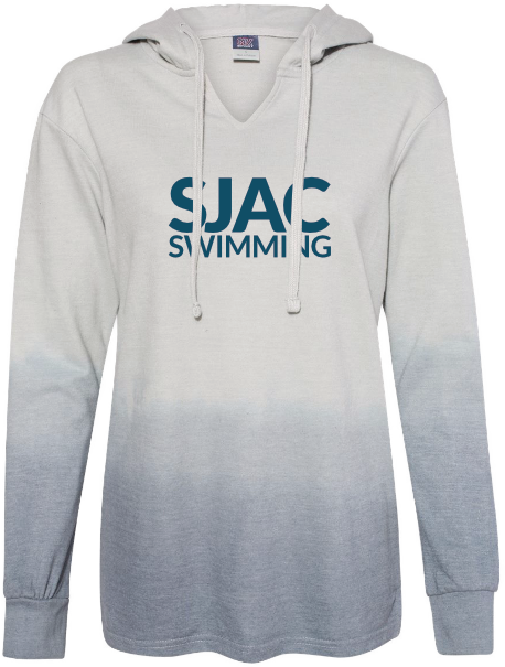 SJAC Women's Ombré French Terry Hooded Sweatshirt