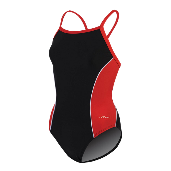 Dolfin XtraSleek Team Panel Red V-2 Back