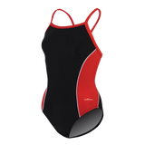 Dolfin XtraSleek Team Panel Black/Red/White V-2 Back