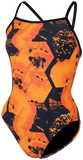 Dolfin Graphlite Rogue Orange V Back