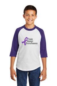 Teams Against Cystic Fibrosis YOUTH Baseball Shirt