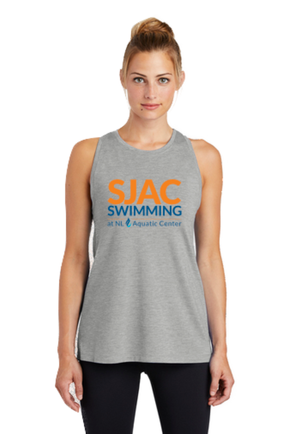 SJAC Ladies TriBlend Wicking Tank - Light Grey Heather