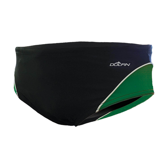 Dolfin XtraSleek Color Block Black/Green/White Racer
