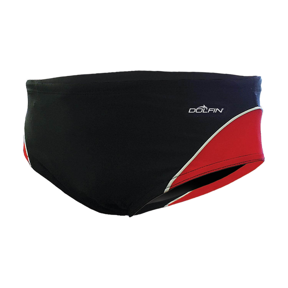 Dolfin XtraSleek Color Block Black/Red/White Racer