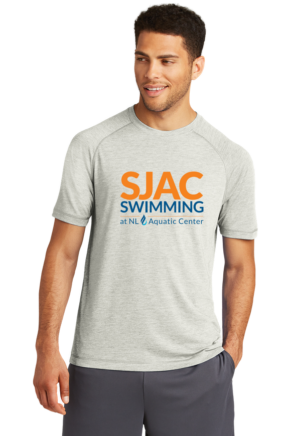 SJAC TriBlend Wicking Tee - Light Grey Heather