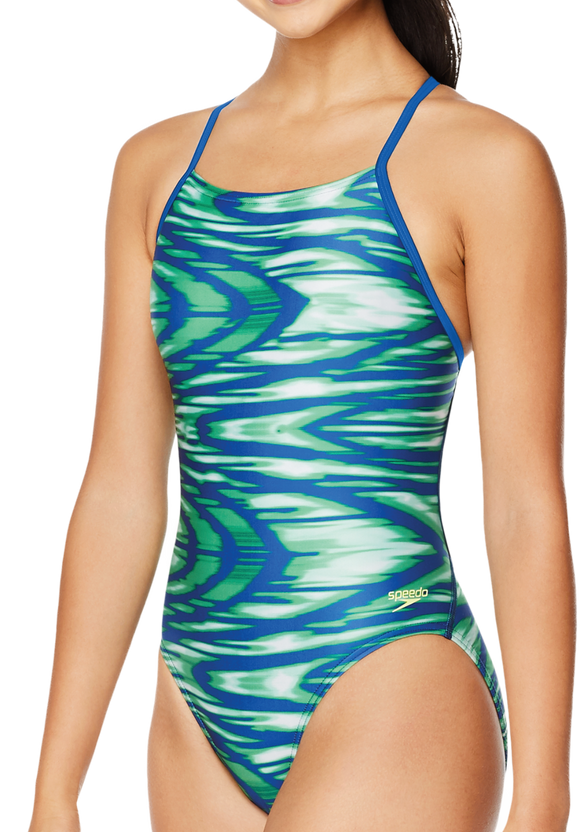 Speedo Pro LT Wave Wall Blue/Green Crossback