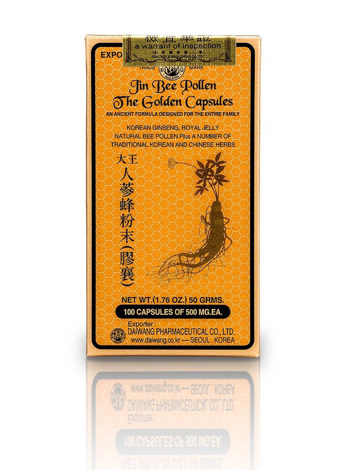Jin Bee Pollen The Golden Capsules