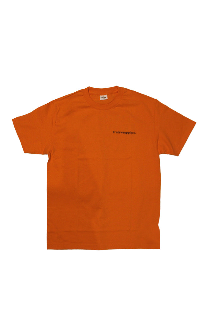 SCOREBOARD TEE ORANGE / NAVY PRINT