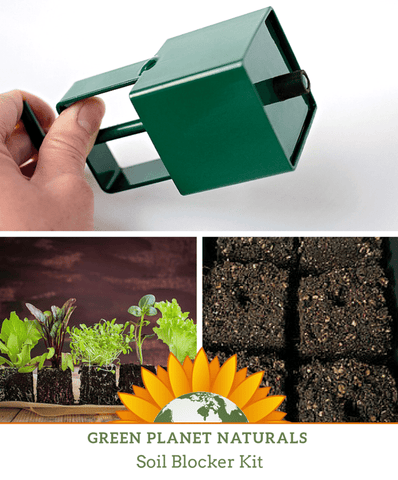 Green Planet Naturals Soil Blocker Set - Soil Blocker + 8 Qts Soil Block Mix - FREE SHIPPING!