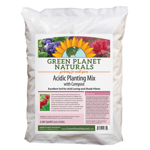 Garden Soil Mix: Acidic Planting Mix with Compost - Free Shipping!