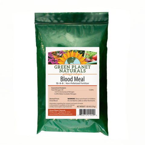 Blood Meal Fertilizer 1-lb Single Ingredient Fertilizers - Free Shipping!