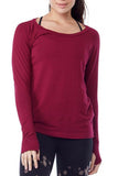 ORGANIC PULLOVER WITH THUMBHOLES - BURGUNDY