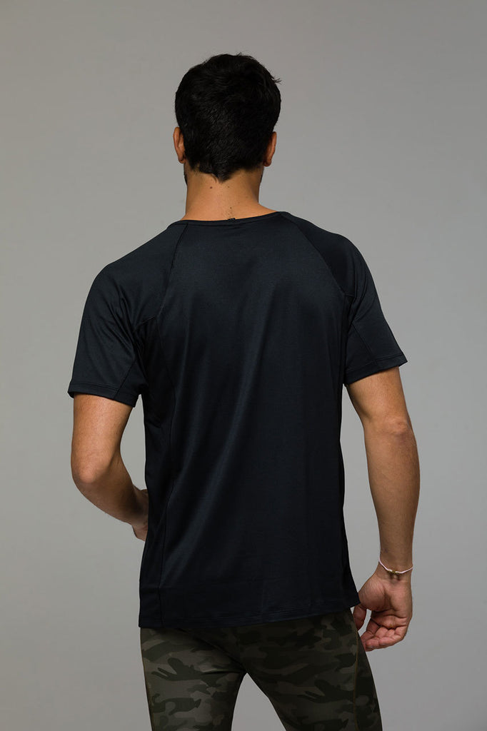 Short Sleeve Raglan - Black