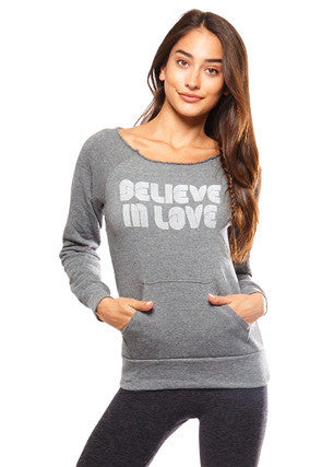 Believe in Love Eco Fleece Pullover