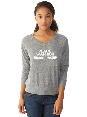 Peace Warrior Raglan Pullover
