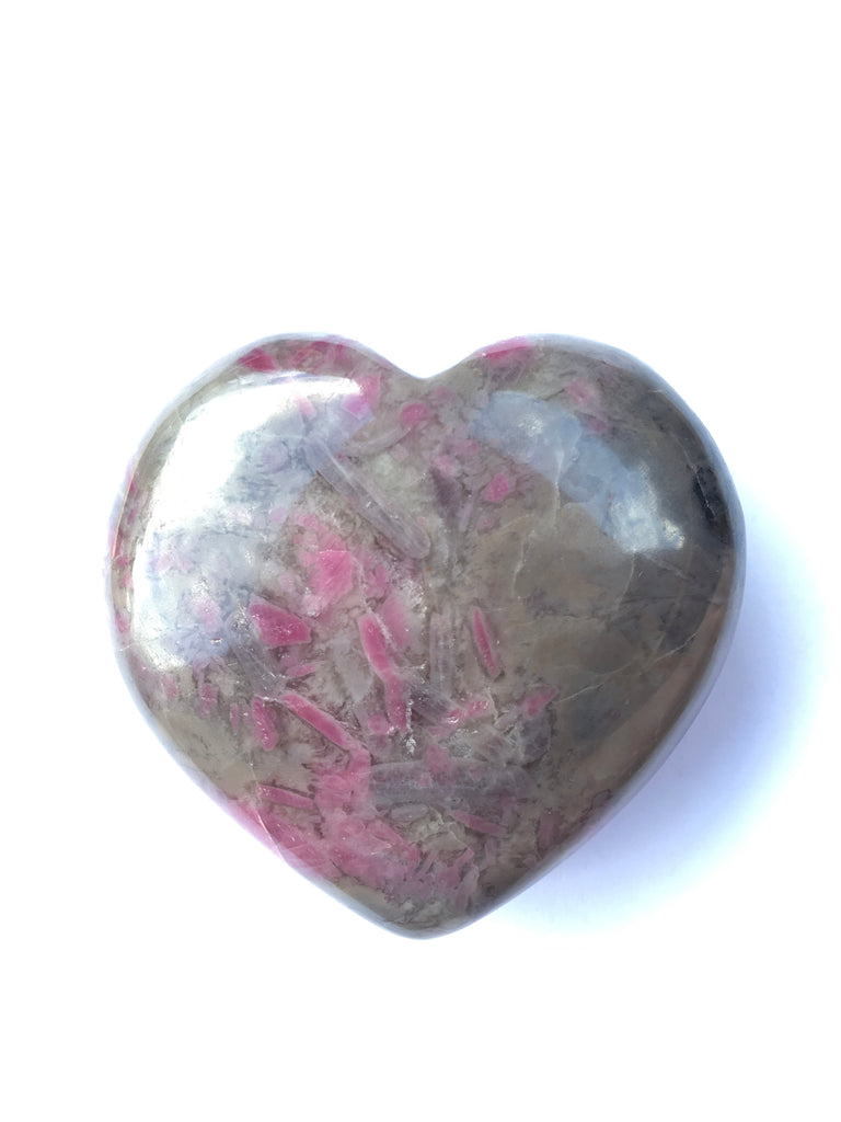 Ruby Feldspar Heart