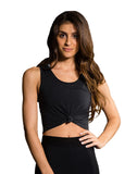 Knot Crop Top - BLACK