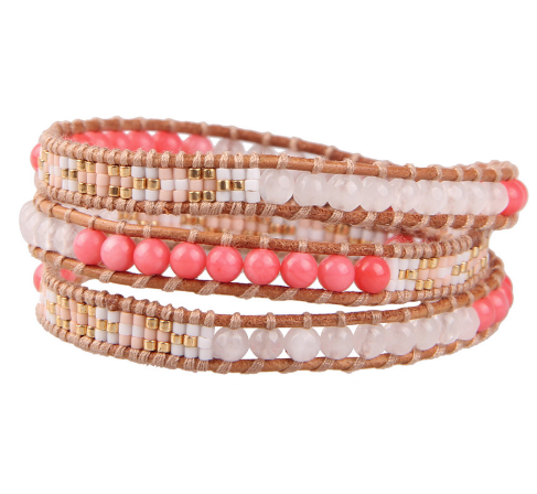 Mermaid Wrap Bracelet - Coral
