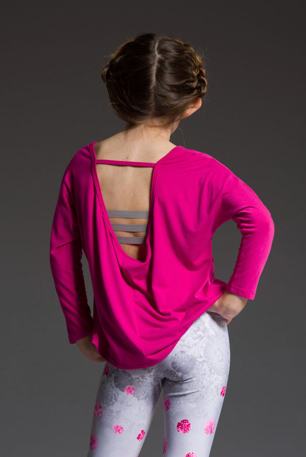 Youth Scoop Back Top - Summer Rose
