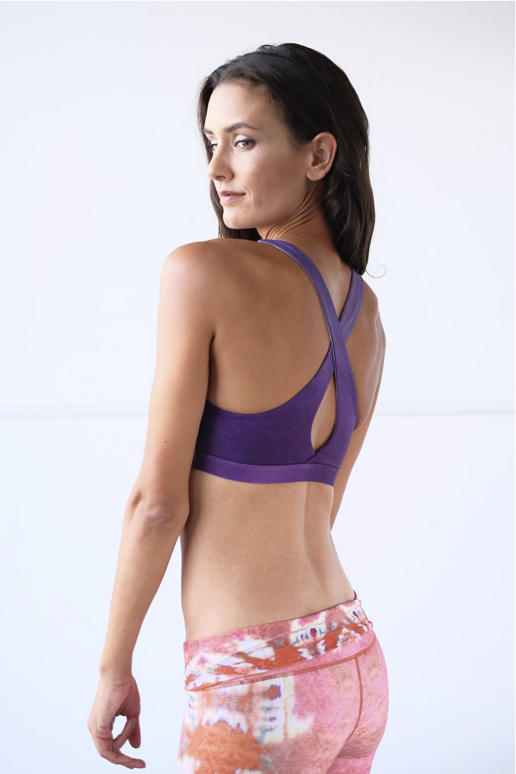Ultra Violet Crossed Sports Bra