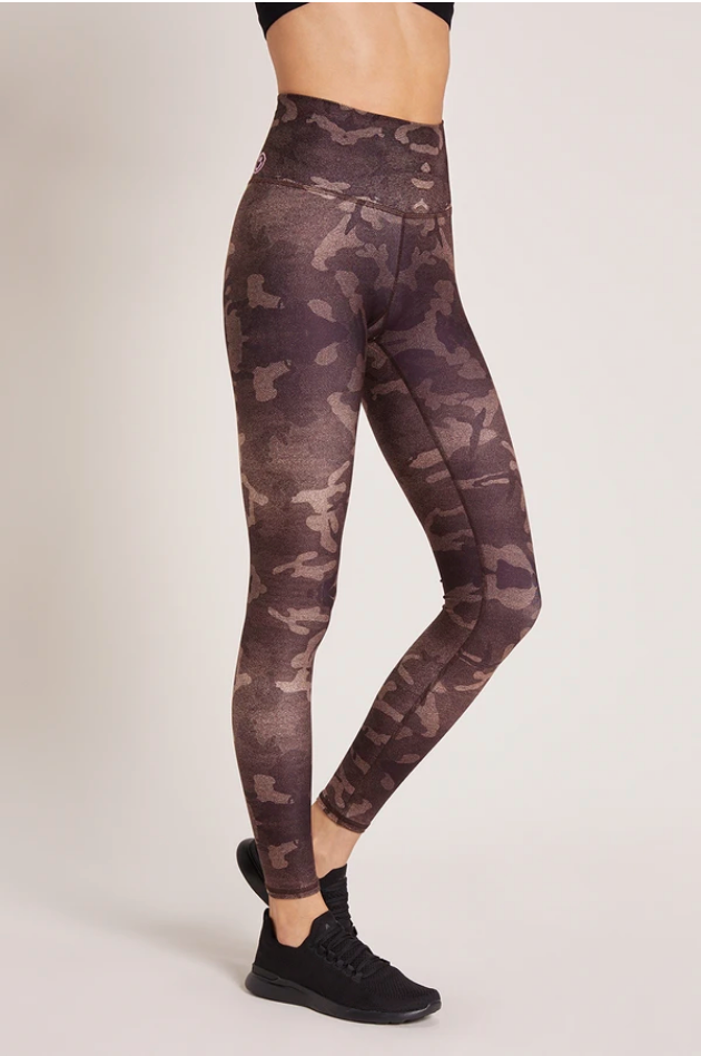 High Waisted Legging - Camo Latte