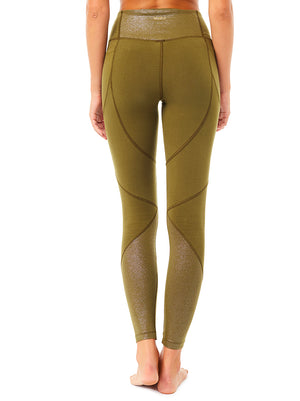 High Waist Glamour Legging - Forest