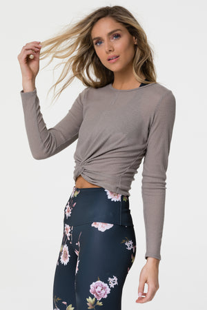 Twirl Top - Taupe