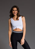 Knot Crop Top - WHITE