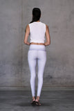 White Snake Ankle Legging