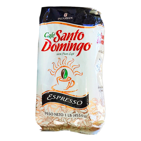 Cafe Santo Domingo Espresso Coffee bolsa de 1 Lb.