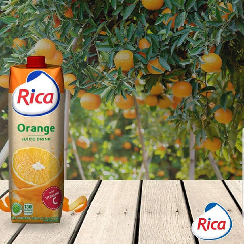 RICA Orange Juice Jugo de Naranja Rica 1 lt with Vitamin C (6 PACK)