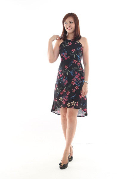Leah Floral Asymmetrical Dress