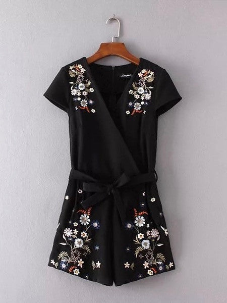 Kasey Embroidery Playsuit (Size M)